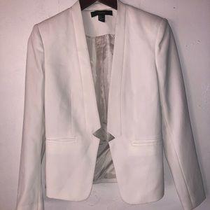 Forever 21 white blazer jacket size S